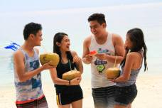 Buko session at Talicud Island.