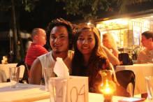 Dinner by Alona Beach.