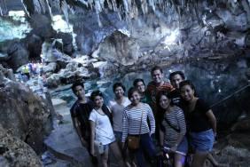 Inside the Hinagdanan Cave.