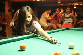 Just one game of pool.