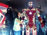 Life-size figure of Iron Man.