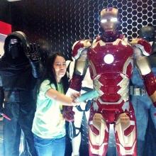 Life-size figure of Iron Man.