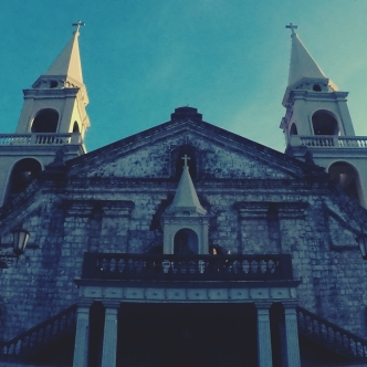 The Jaro Cathedral stood just across the Bellfry, up the staircase attached to the facade is a famous idol, said to hold a miraculous property.
