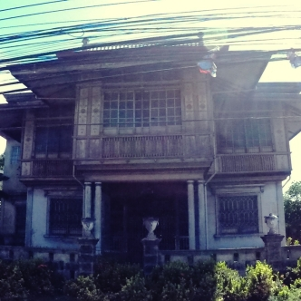 One of the ancestral houses still occupied.