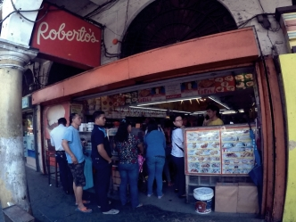 People queue in for a taste of Iloilo's best selling siopao! Really tasty, worth the long line.