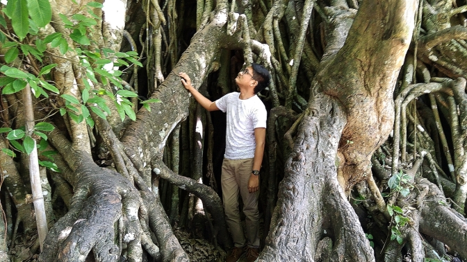 At the foot of Balete.