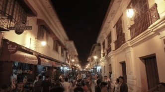 The famous Calle Crisologo at night.